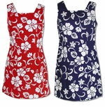 Classic Hibiscus Women's Short Tank cotton dress