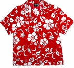 Classic Hibiscus Women's cotton Camp Shirt made in Hawaii