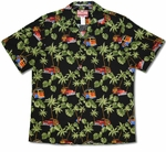 Classic Woodies Monstera Palm cotton aloha shirt