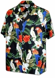 Cockatoo and Jungle Parrots Mens Cotton Shirt
