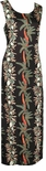 Coconut Panel Women's Vintage Paradise Found Long Tank Rayon Dress / Style 190