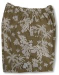 Coconut Tree Garden Men's Cargo Shorts 100% Cotton Hawaiian Print