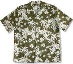 Coconut Tree Garden men's soft peached cotton shirt