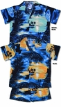 Colorful Island Sunset boy's cabana set