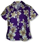 Colossal Plumeria Women's Fitted Blouse