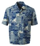 Contemporary Polynesian Mens Cotton Aloha Shirt