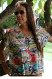 Corvettes RT 66 Hawaiian Aloha Rayon Blouse