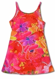 Cosmic Tranquility Tropical Flowers girl's slip dress