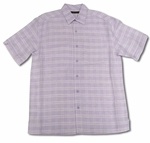 Cubavera Pastel Lilac Plaid Blend Shirt