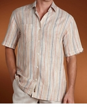 CLOSEOUT Cotton Stripe Space Dyed Shirt