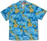 Da Hawaiian Islands men's cotton aloha shirt