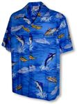 Deep Water Ocean Fish Men's Shirt