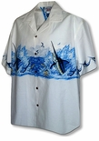 Deep Water Ocean Marlin Men's Chest Band Shirt