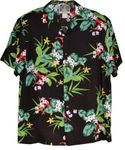 Delicate Orchids mens rayon aloha shirt