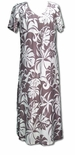 1X & 4X plus sizes Delicate Tropicals V-Neck Rayon Evening Dress