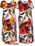 Delightful Hibiscus Women's Hawaiian Aloha Long Rayon Dress
