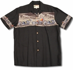 Desert Rider Motorcycle Chestband men's shirt