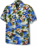 Diamond Head Ocean Waves Boy's Shirt