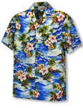 Diamond Head Ocean Wave Men's Shirt