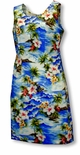 Diamond Head Ocean Waves womens short tank dress