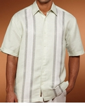 CLOSE OUT - Reseda Tricolor Panel Cubavera Men's Shirt