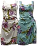 Double Orchid Paradise Found Sarong Dress