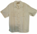 CLOSEOUT Double Pocket Pleat & Tuck Cubavera Retro Style Men's Rayon Shirt