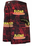 "21"" Eat Here HIC L & L 8 way Stretch Boardshorts"