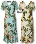 Enchanting Tropicals women's cap sleeve long dress