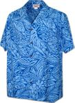 Entwined Foliage Men's Cotton aloha shirt