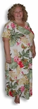 Exotic Garden Caftan 4X Plus Rayon Long Dress