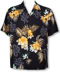 Fern Hibiscus mens shirt