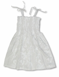 Fern Leaf Garden girl's spaghetti strap wedding white tube dress
