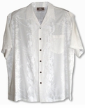 Last Small size white Fern Leaf Garden Aloha Shirt