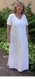 Fern Leaf Garden women's wedding white v-neck long dress