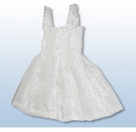Fern Leaf Garden girl's wide strap wedding white tube dress