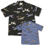 Fighter Airplanes WWII Men's Rayon