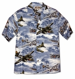 Fighter Bomber Airplane II Men's Hawaiian Aloha Shirt