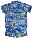 Underwater Cartoon boy's 2pc cabana set