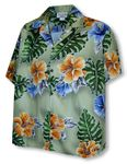 CLOSEOUT Flamboyant Hibiscus Women's Camp Shirt
