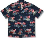 4th of July Flaming Roadsters men's cotton car Shirt