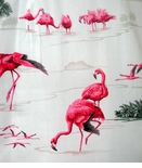 Pink Flamingo Lagoon Ladies Blouse