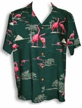 Pink Flamingo Lagoon women's paradise found shirt