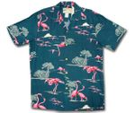 Pink Flamingo Lagoon Men's Rayon