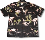 3X Flamingo Lake men's aloha shirt