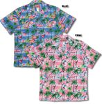 Pink Flamingo Orchid Men's traditional aloha Shirt