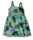 Flamingo Paradise Girl's Bungee Dress
