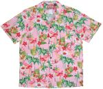 Flamingo Tropics men's cotton made in Hawaii aloha shirt
