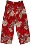 Floating Orchid Cropped Pants