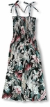Floral Enchantment Smocked Rayon Sundress